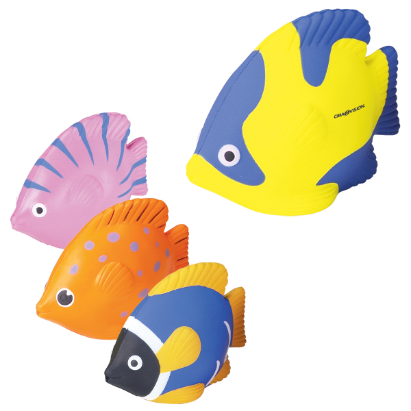 Imprinted Tropical Fish Stress Reliever