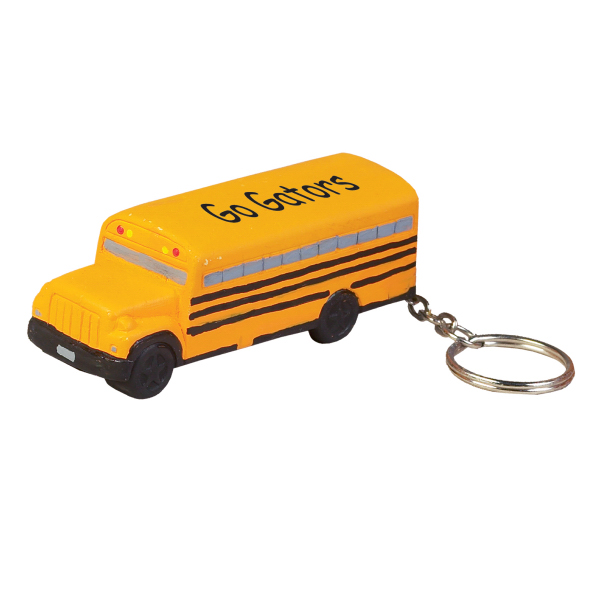 Printed School Bus Keychain stress reliever