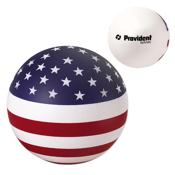 Custom USA Round Ball Stress Reliever