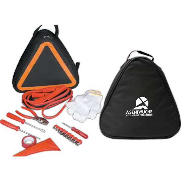 Imprinted The Emergency Triangle Basic Car Emergency Kit