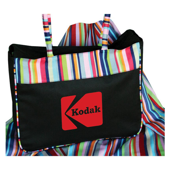 Promotional Tote with striped accents and piping