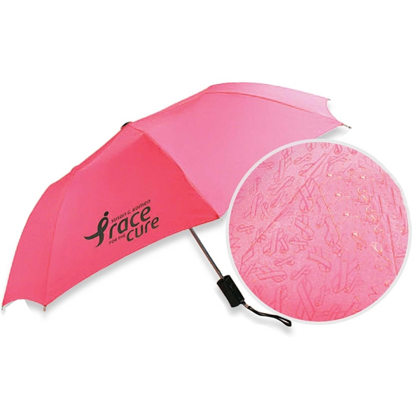Printed Pink Ribbon Umbrella