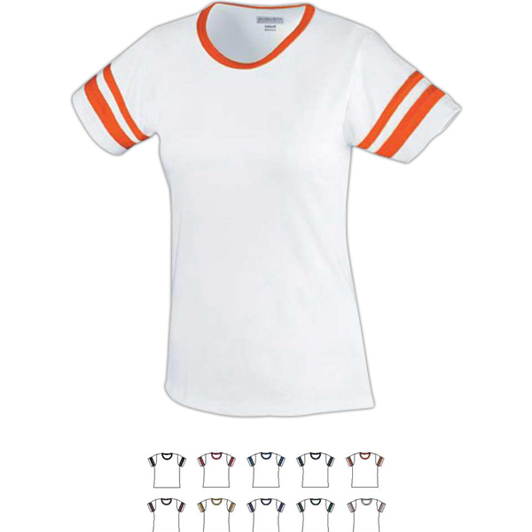 Promotional Girls Junior Fit Cotton/Spandex Camp Tee
