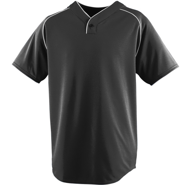 Promotional Wicking One-Button Youth Baseball Jersey