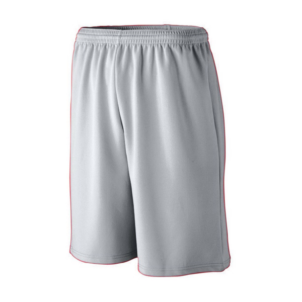 Customized Adult Longer Length Wicking Mesh Athletic Short