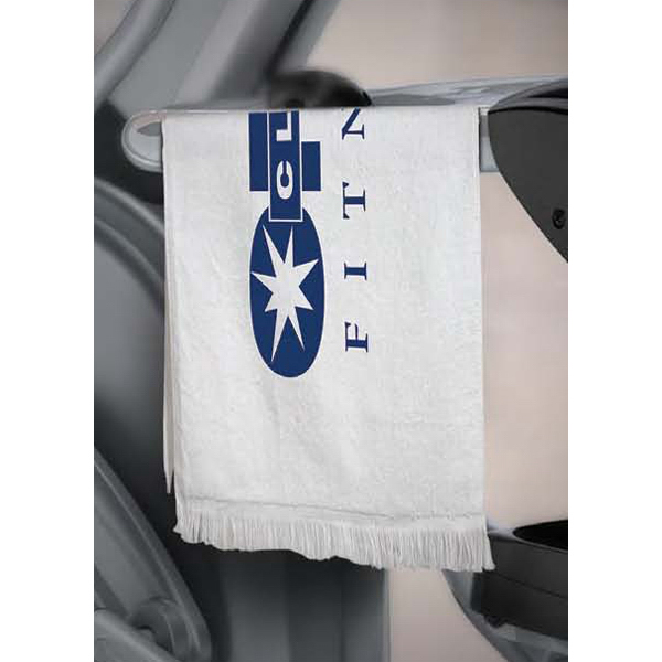 Customized White Fringed Towel