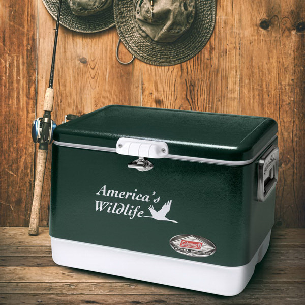 Imprinted Coleman (R) 54-Quart Classic Steel Belted Cooler