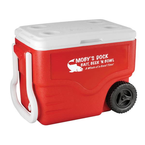 Custom Coleman (R) 40-Quart Wheeled Cooler