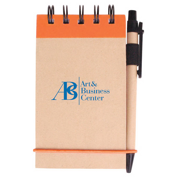 Personalized V Natural (TM) Kraft Jotter With Pen