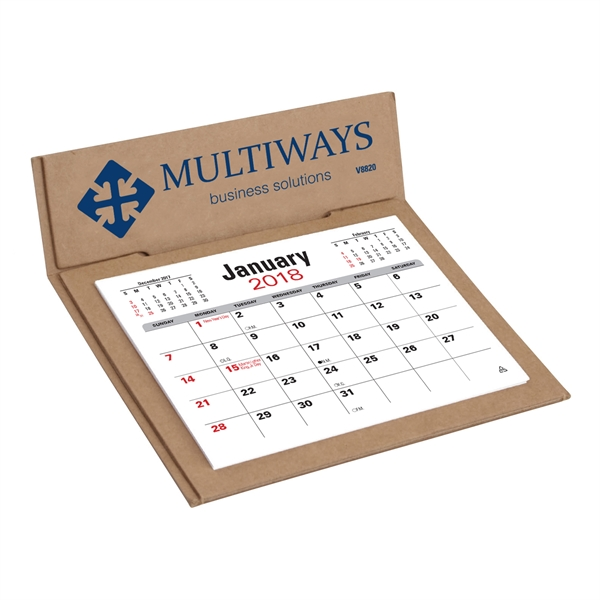Personalized V-Natural (TM) 3-Month Jumbo Pop Up Calendar