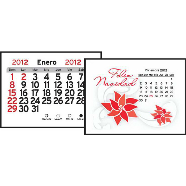 Personalized Spanish (13-Month) Magna-Stick (TM) Calendar