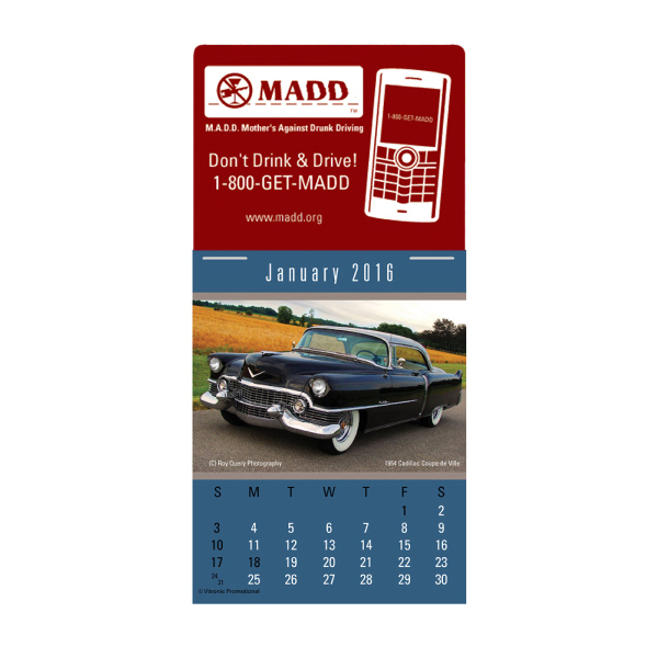 Customized Cruisin' Cars Magna-stick (TM) Calendar