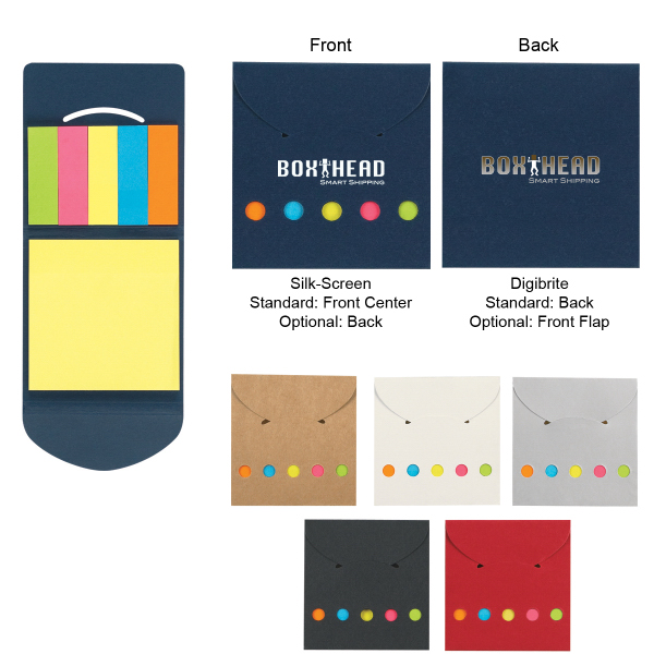 Imprinted Sticky Notes & Flags In Pocket Case