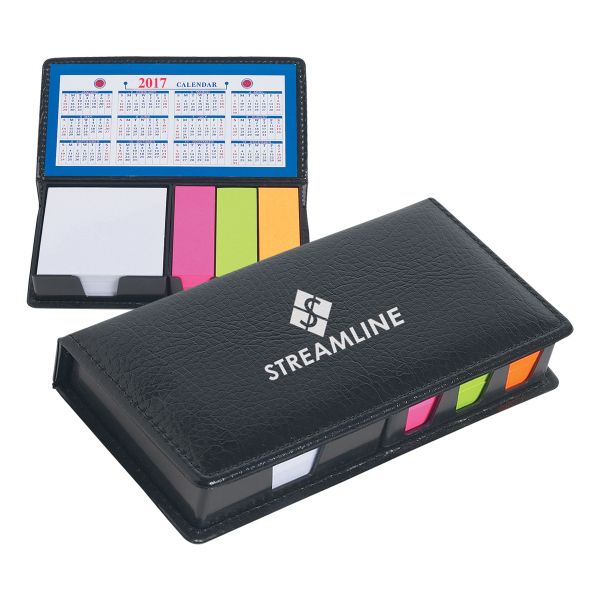 Customized Leather Look Case Of Sticky Notes With Calendar