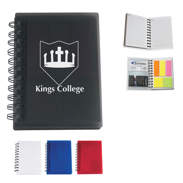 Personalized Spiral Notebook With Sticky Notes