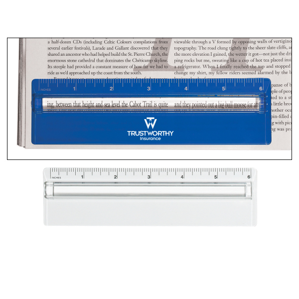 "Personalized Plastic 6"" Ruler With Magnifying Glass"