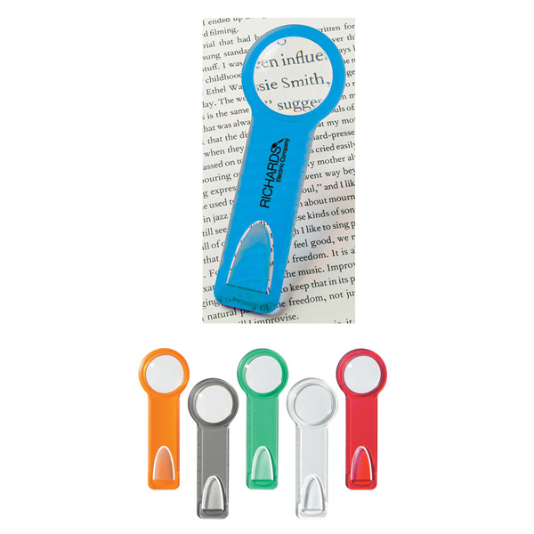 "Customized Plastic 2"" Ruler With Circular Magnifying Glass"