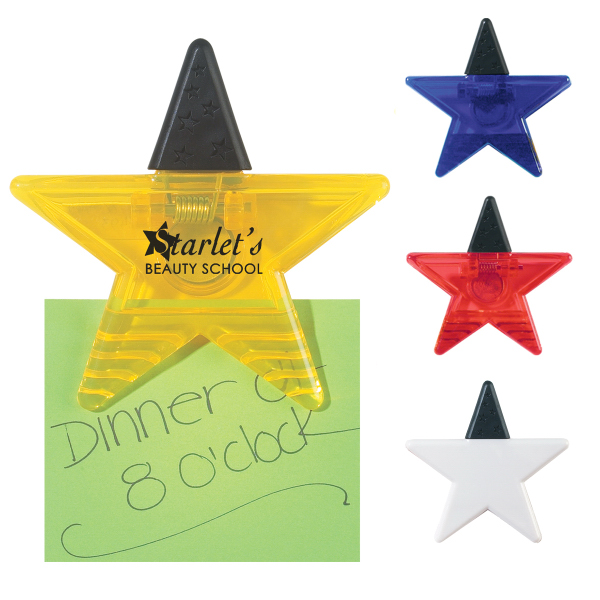 Imprinted Star Shape Clip