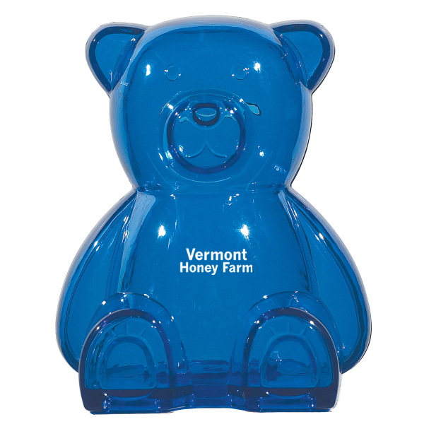 Printed Plastic Bear Shape Bank