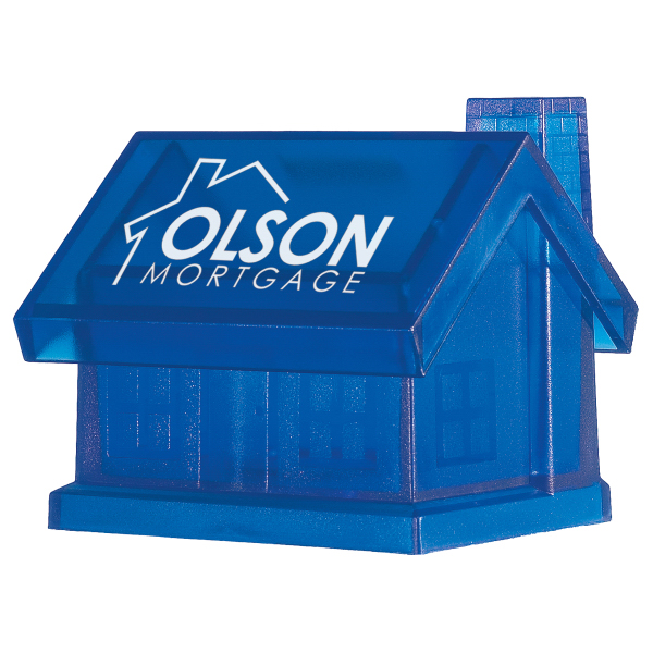 Printed Plastic House Shape Bank