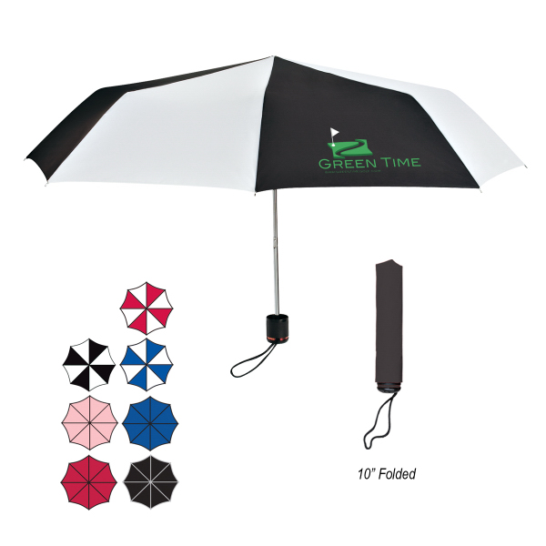 "Printed 43"" Arc Super-Mini Telescopic Folding Umbrella"