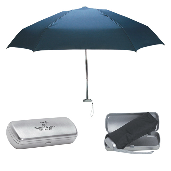"Promotional 38"" Arc Folding Umbrella With Contemporary Design Case"