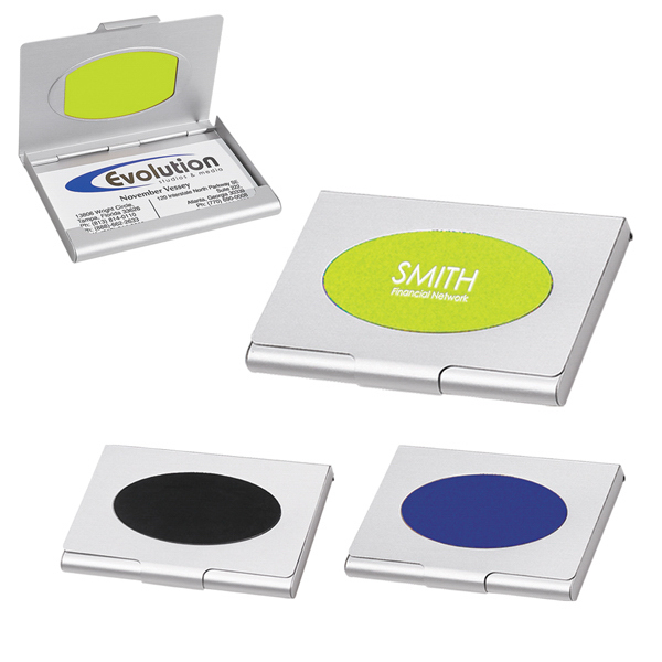 Imprinted Saturn Business Card Holder
