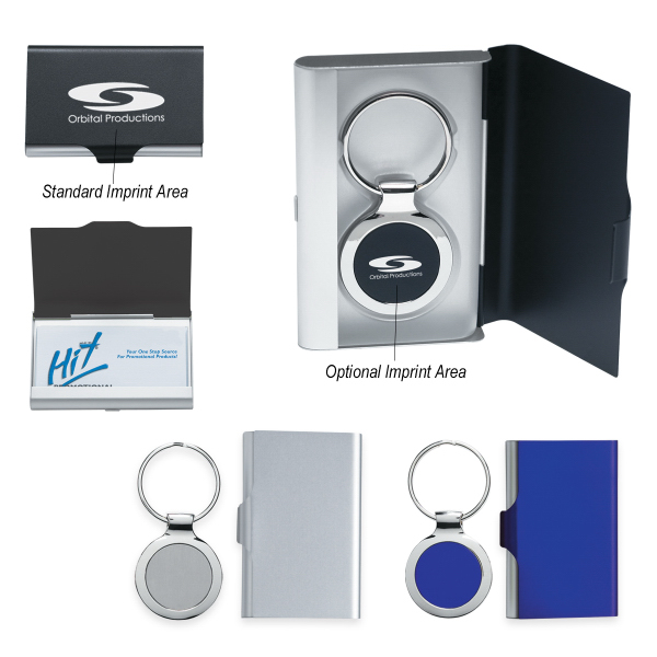 Personalized 2 In 1 Key Tag/Business Card Holder
