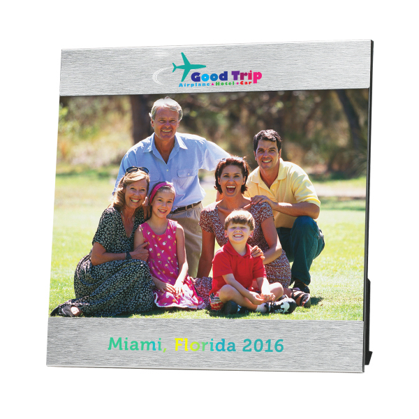 "Custom 4"" x 6"" Aluminum Photo Frame"