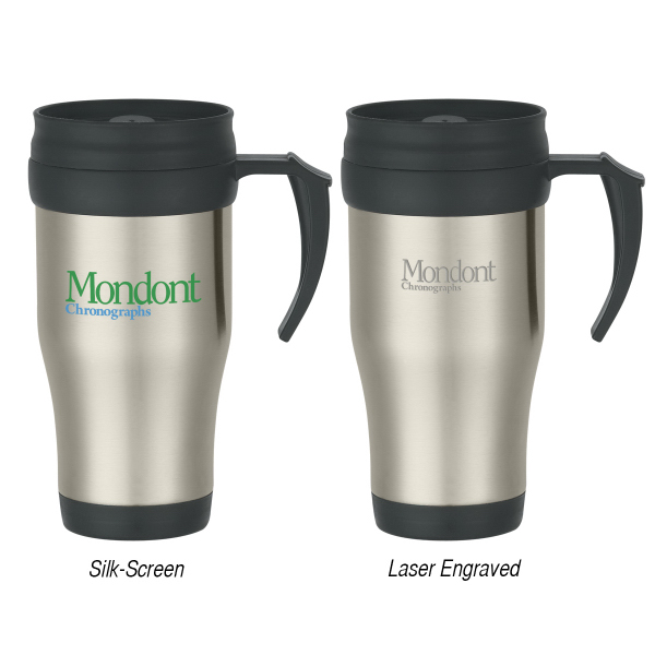 Custom 16 oz. Stainless Steel Travel Mug With Slide Action Lid