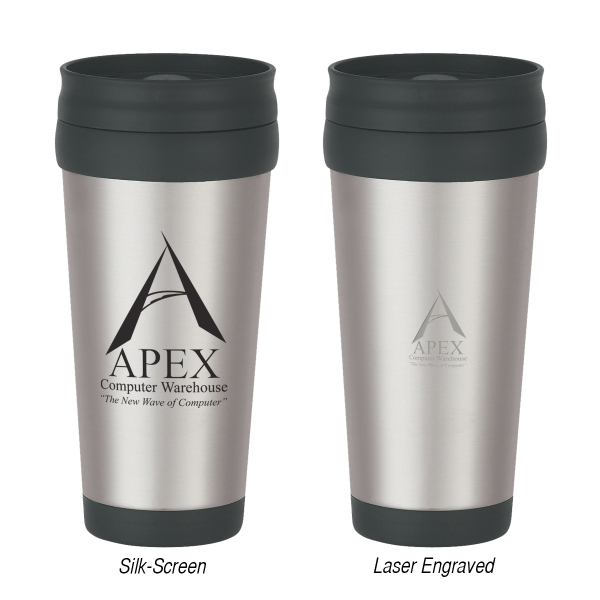 Custom 16 oz. Stainless Steel Tumbler With Slide Action Lid