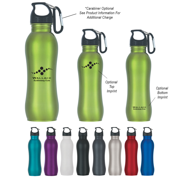 Imprinted 25 oz. Stainless Steel Grip Bottle
