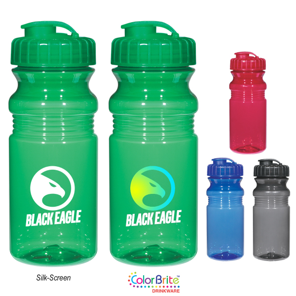Customized Poly-Clear (TM) 20 Oz. Fitness Bottle With Super Sipper Lid