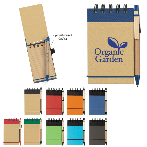 Imprinted Eco-Friendly Spiral Jotter & Pen