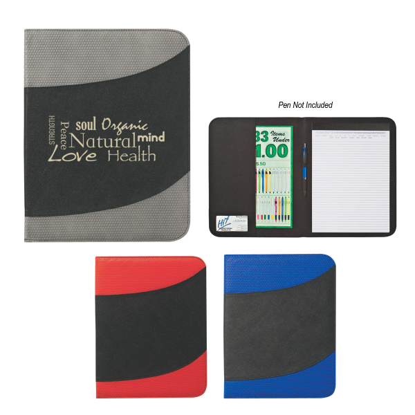 "Customized Non-Woven 8 1/2"" x 11"" Bubble Padfolio"