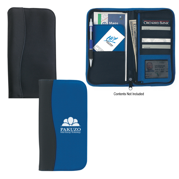 Personalized Microfiber Travel Wallet With Embossed PVC Trim