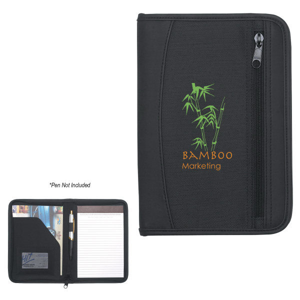 Personalized Zip-Up Small Traveler Portfolio