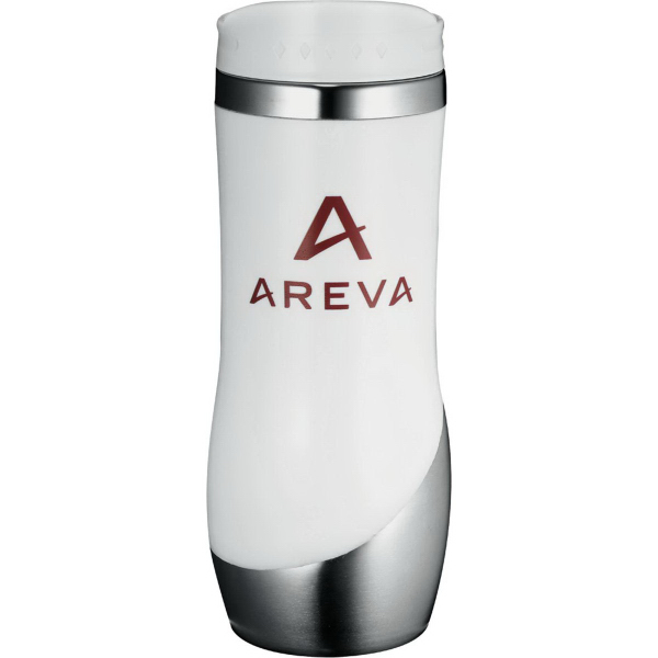 Imprinted Curved Stainless Tumbler 16 oz
