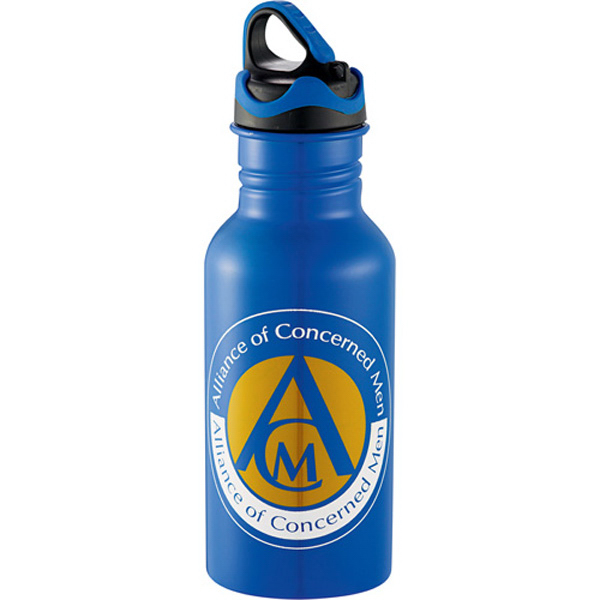 Printed Colorband Mini Stainless Bottle 17 oz