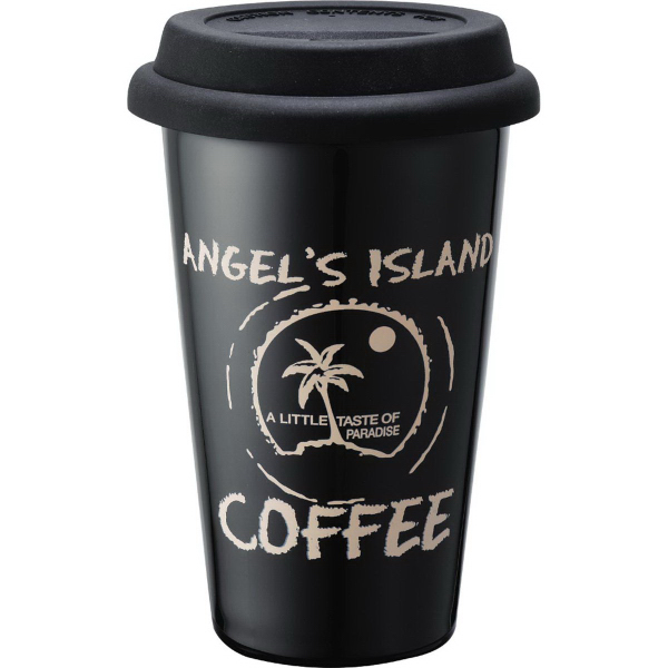 Customized Double Wall Ceramic Tumbler 11 oz