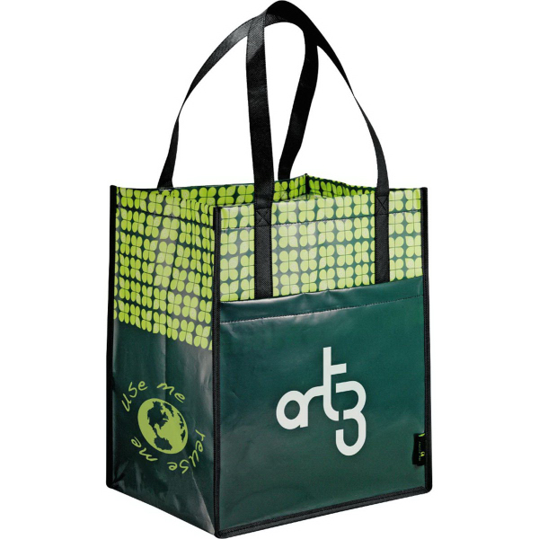 Imprinted Laminated Non-Woven Big Grocery Tote