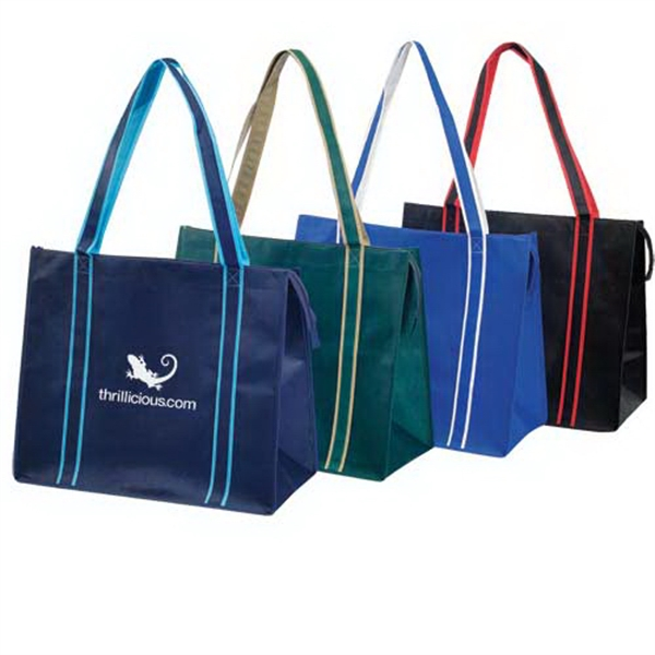 Printed Highlight Non-Woven Zippered Tote Bag