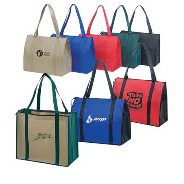 Promotional Non-Woven Zippered Tote Bag