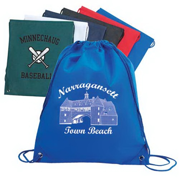 Printed Non-Woven Drawstring Shoulder Pack