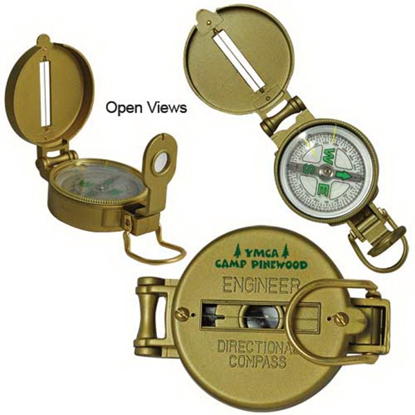 Personalized Metal Lensatic Compass