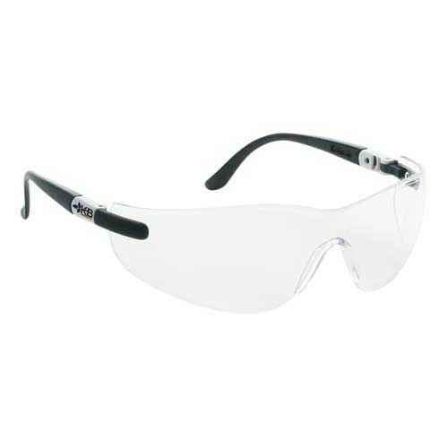 Personalized Wrap-Around Safety Glasses with Ratchet Temples