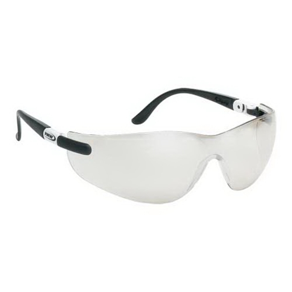 Imprinted Wrap-Around Safety Glasses with Ratchet Temples