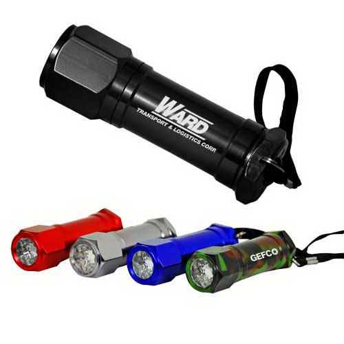 Imprinted 8-LED Non-Rolling Flashlight