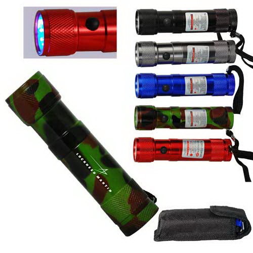 Custom 8-LED Flashlight with Laser Pointer