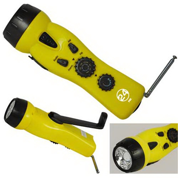 Personalized 4 in 1 Emergency Dynamo Radio / Flashlight